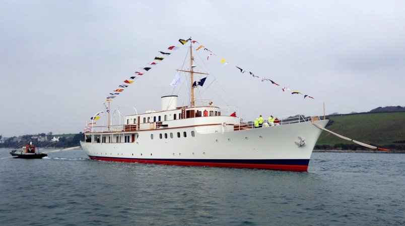 Classic Yacht MALAHNE Restored & Relaunched