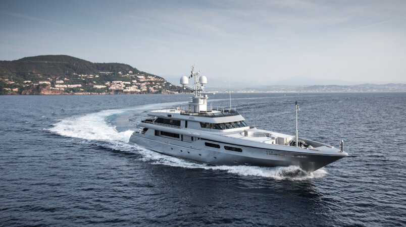 Regina d'Italia II - Available for inspection during the 2019 Cannes Yachting Festival