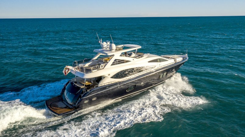 Alfie Buoy, the best priced Sunseeker 88 yacht available in the West Med now for sale with Edmiston