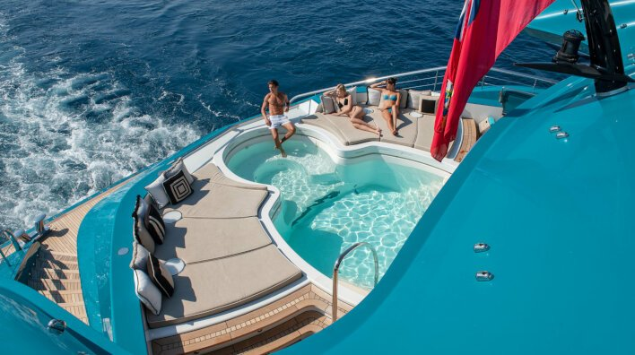 Enjoy the winter holidays on board a luxury yacht...