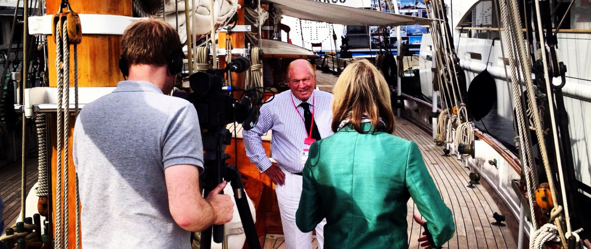 Edmiston Interview with BBC at the Monaco Yacht Show photo 2