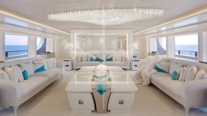 Lady S Yacht Interior