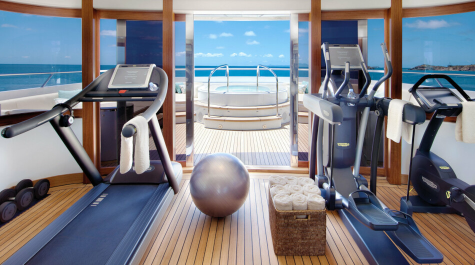 Panoramic Sundeck gym