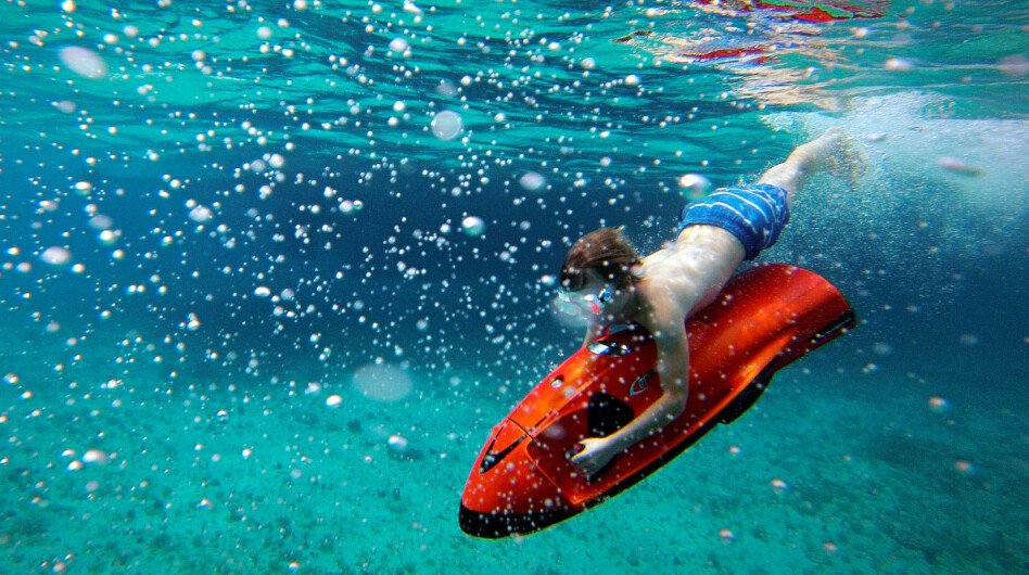 A huge selection of water toys